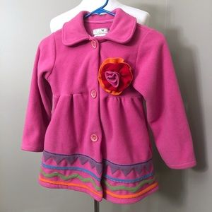 Widgeon Girls Boutique Fleece Coat Size 7